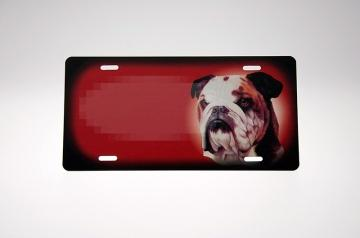 Bulldog rødt Skilt