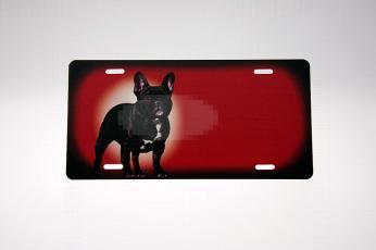 Fransk Bulldog rødt Skilt