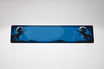 Stejlende heste blå skilt