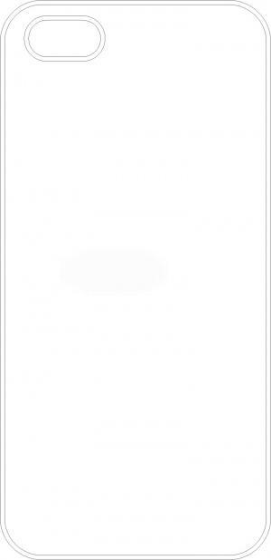 Hvid Iphone 5 cover med eget design