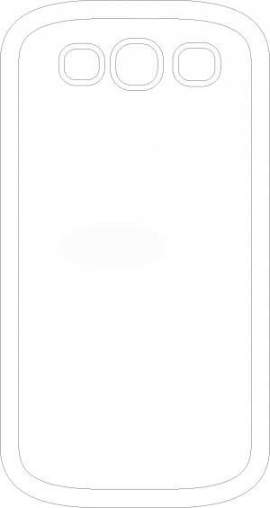 Hvid Samsung Galaxy S3 cover med eget design